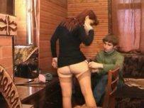 Русская проститутка Надя трахается с сыном